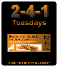 Thamin 2-4-1 Tuesdays advert