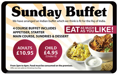 Sunday Buffet Advert